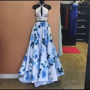 Floral Prom Pageant Dress Gown